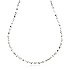 J by Jasper Conran - Designer sterling silver twisted chain necklace