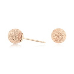J by Jasper Conran - Designer rose gold vermeil glitter ball stud earrings