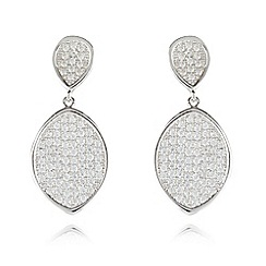 J by Jasper Conran - Designer sterling silver pave pendant earrings