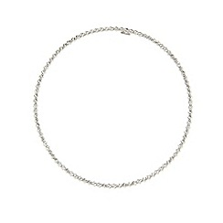 J by Jasper Conran - Designer sterling silver faceted ball bangle