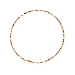 J by Jasper Conran - Designer rose gold vermeil faceted ball bangle