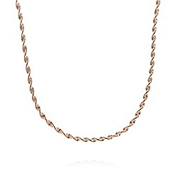 J by Jasper Conran - Designer rose gold vermeil twisted chain necklace