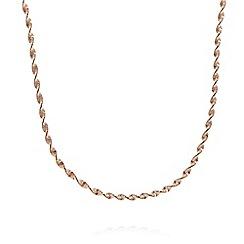 J by Jasper Conran - Designer rose gold vermeil twisted chain necklace