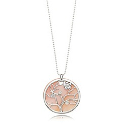 Van Peterson 925 - Designer sterling silver tree disc pendant necklace