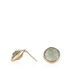 Van Peterson 925 - Designer semi precious Labradorite stud earrings