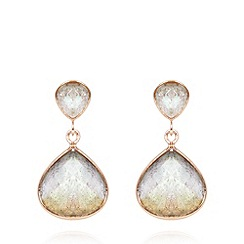Van Peterson 925 - Designer rose gold vermeil labradorite drop earrings