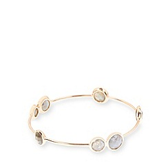 Van Peterson 925 - Designer rose gold vermeil faceted bangle