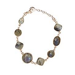 Van Peterson 925 - Designer rose gold semi precious Labradorite vermeil stone bracelet