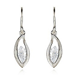 Van Peterson 925 - Designer sterling silver teardrop earrings