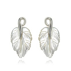 No. 1 Jenny Packham - Designer mother of pearl leaf earrings