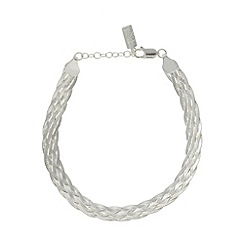 No. 1 Jenny Packham - Designer sterling silver plaited bracelet
