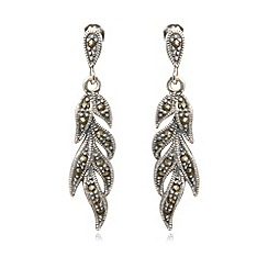 No. 1 Jenny Packham - Designer sterling silver feather earrings