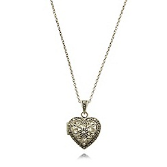 No. 1 Jenny Packham - Designer sterling silver scroll heart locket