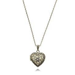 No. 1 Jenny Packham - Designer sterling silver scroll heart locket