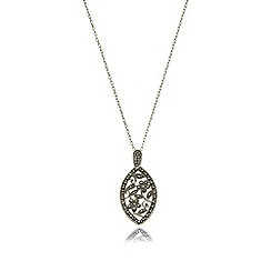 No. 1 Jenny Packham - Designer sterling silver floral pendant necklace