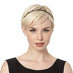 The Collection - Black stone set headband