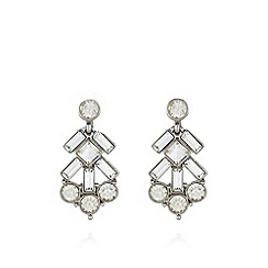 No. 1 Jenny Packham - Designer silver plated baguette earrings