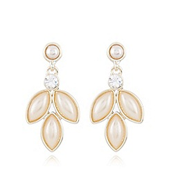 No. 1 Jenny Packham - Designer gold plated navette drop earrings
