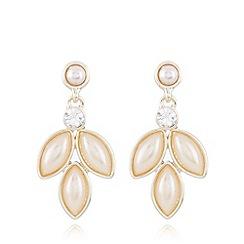 No. 1 Jenny Packham - Designer gold plated navette drop earrings