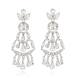 No. 1 Jenny Packham - Designer silver chandelier drop earrings