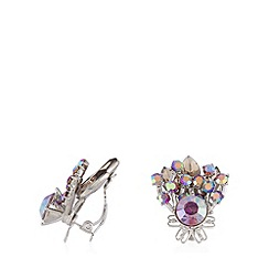 No. 1 Jenny Packham - Designer silver plated iridescent stone earrings