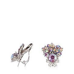 No. 1 Jenny Packham - Designer silver plated iridescent stone earrings