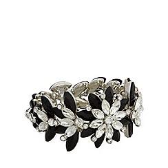 No. 1 Jenny Packham - Designer silver floral bracelet