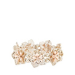 The Collection - Gold plated flower stretch bracelet