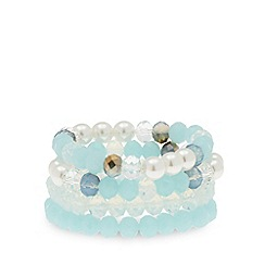 The Collection - Set of four blue bead bracelets