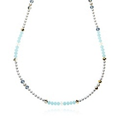 The Collection - Blue faceted bead necklace