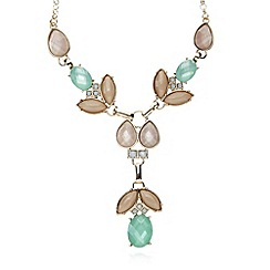 The Collection - Gold mixed bead Y necklace