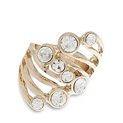 The Collection - Gold multi stone small ring
