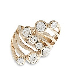 The Collection - Gold multi stone large ring