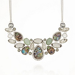 No. 1 Jenny Packham - Designer silver semi precious bib necklace