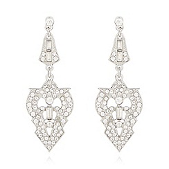 No. 1 Jenny Packham - Designer silver plated pave deco drop earrings