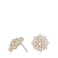No. 1 Jenny Packham - Designer gold plated stone flower earrings
