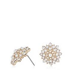 No. 1 Jenny Packham - Designer gold plated stone flower earrings