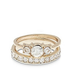 No. 1 Jenny Packham - Designer set of two gold stone rings