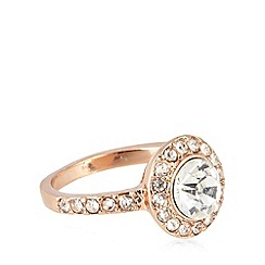 No. 1 Jenny Packham - Designer small rose gold plated stone ring