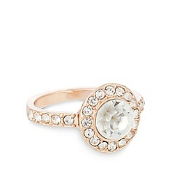 No. 1 Jenny Packham - Designer large rose gold plated stone ring