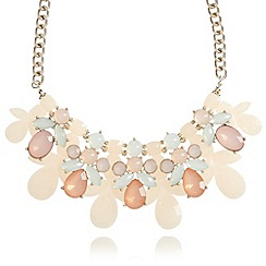 Floozie by Frost French - Gold plastic gem statement necklace
