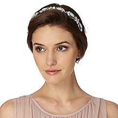 No. 1 Jenny Packham - Designer silver floral embellished headband