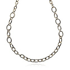 The Collection - Gold PU trim chain necklace