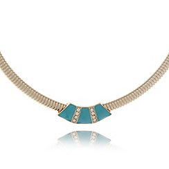 The Collection - Gold enamel necklace