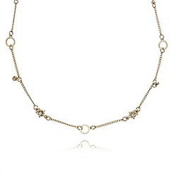 The Collection - Gold plated stone star necklace