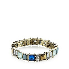 The Collection - Gold plated faceted stone stretch bracelet