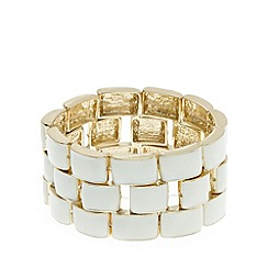 The Collection - Cream enamel link bracelet