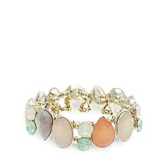 The Collection - Gold opaque gem bracelet