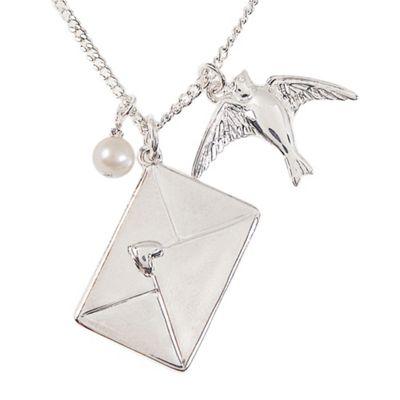 Sterling silver love letter pendant