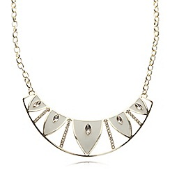 The Collection - Cream enamel torq drop necklace